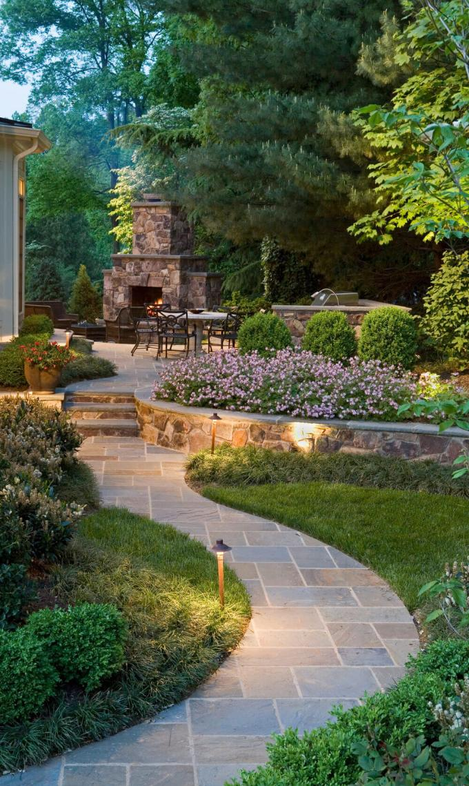 Backyard Landscaping Ideas - Fireplace Patio - harpmagazine.com