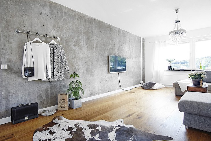 Concrete Accent Wall Ideas