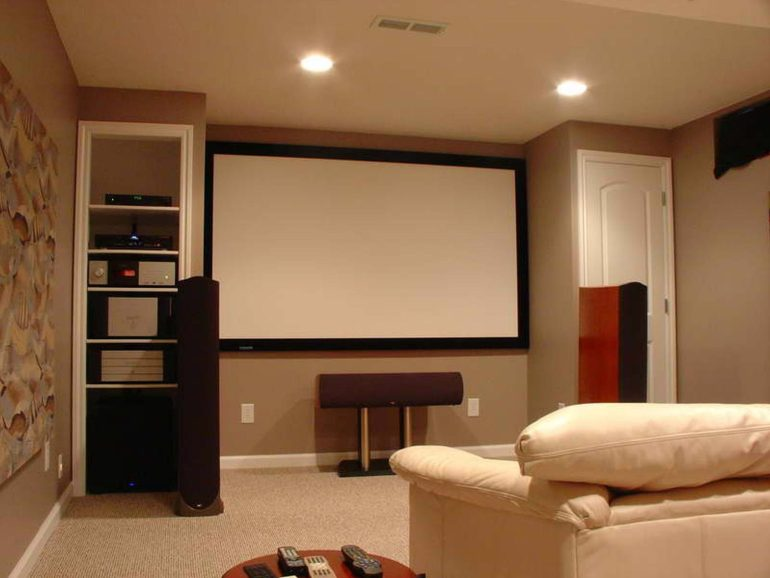 Low Basement Ceiling Ideas - Paint the ceiling color down onto the walls - harpmagazine.com