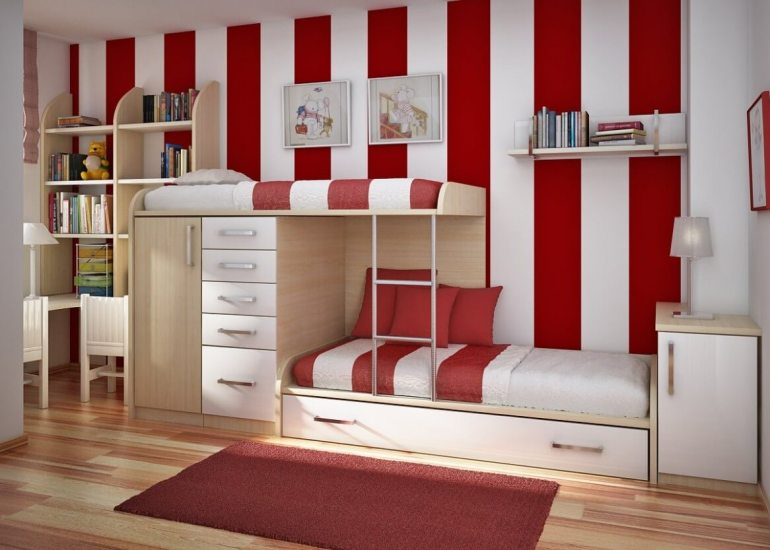 Low Basement Ideas - Paint vertical stripes on the walls - harpmagazine.com