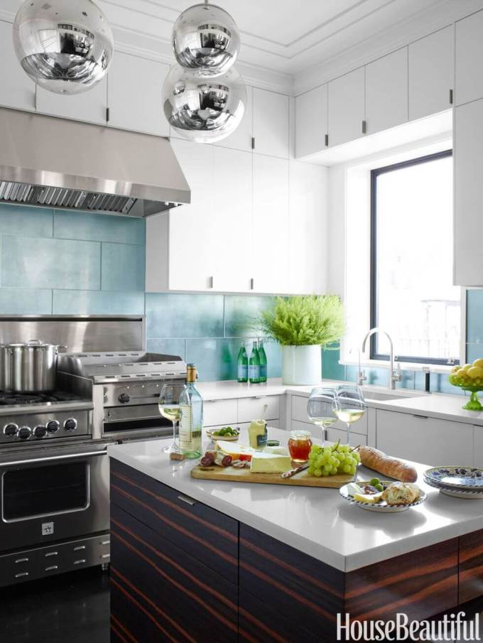 Kitchen Lighting Ideas - Silver Orbs - harpmagazine.com