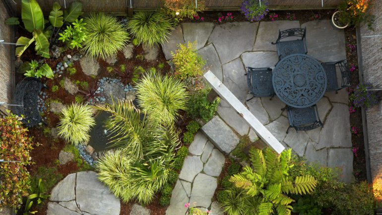 Paver Patio Ideas with Tiny Urban Gem - harpmagazine.com