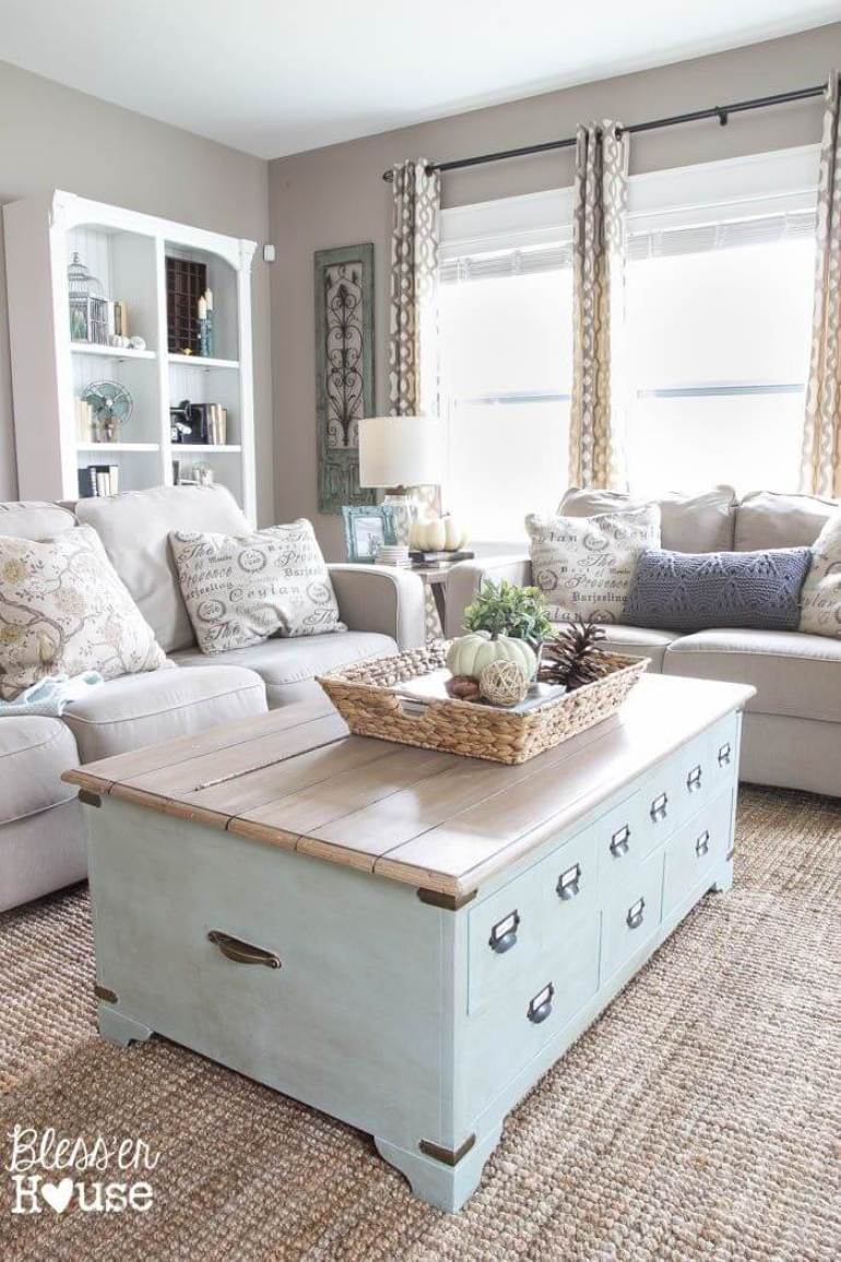 25+ Gorgeous Rustic Chic Living Rooms Ideas that You Must See - Harp ...