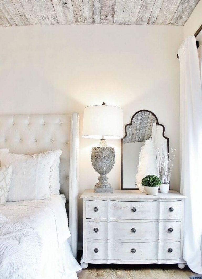 c Vintage Whitewashed Wooden Bedside Bureau - Harpmagazine.com