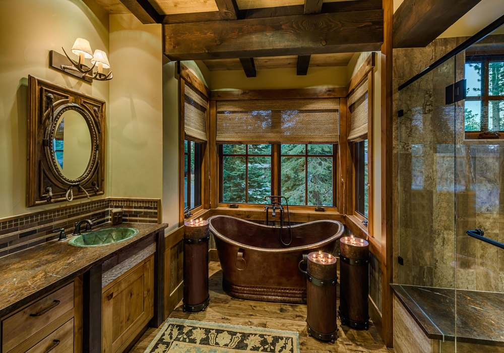 16. Luxurious Rustic Bathroom Decoration Ideas