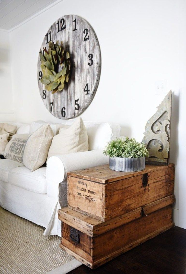 Rustic Chic Living Rooms Ideas - An Elegant Driftwood Lockbox Room - harpmagazine.com