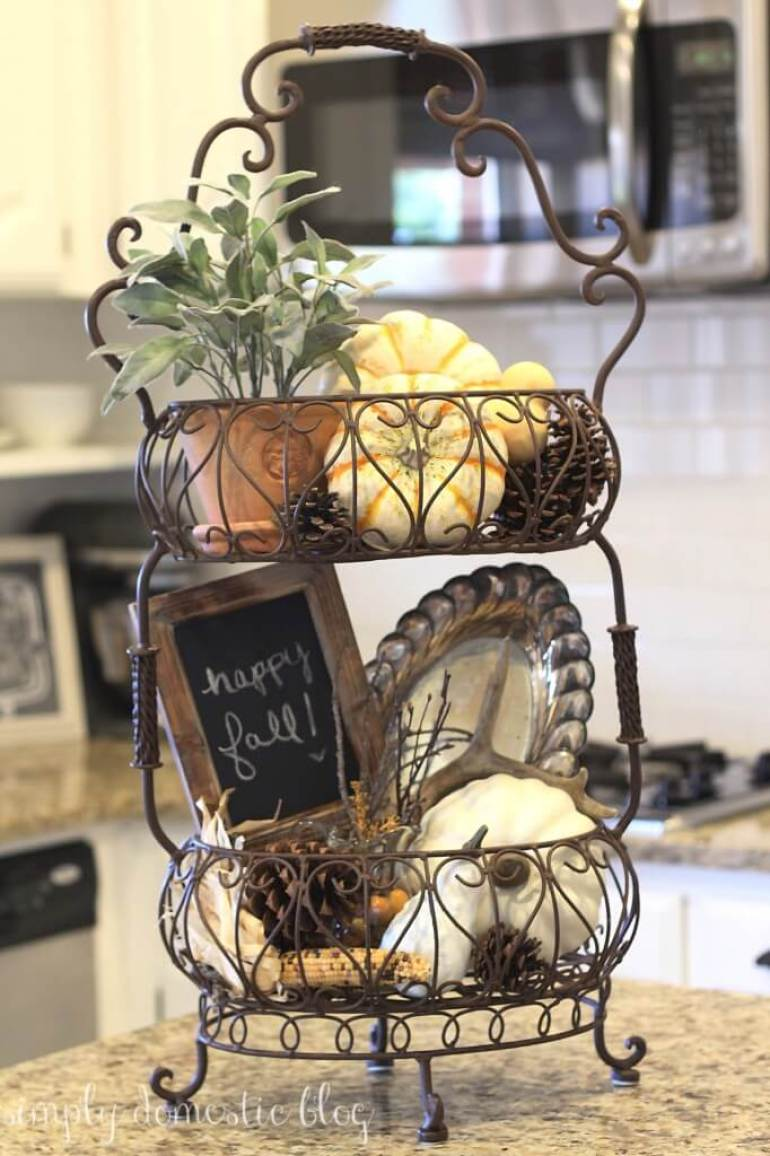 French Country Decor Ideas - Cafe Style Wire Display Basket - Harpmagazine.com