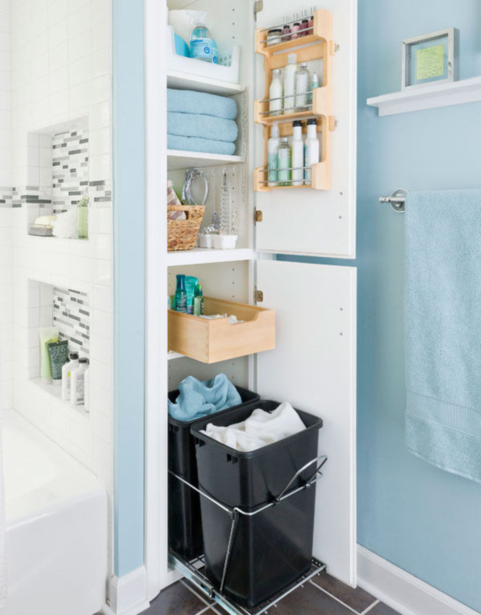 29+ Bathroom Storage Ideas to Use Every Bit of Space Available ...