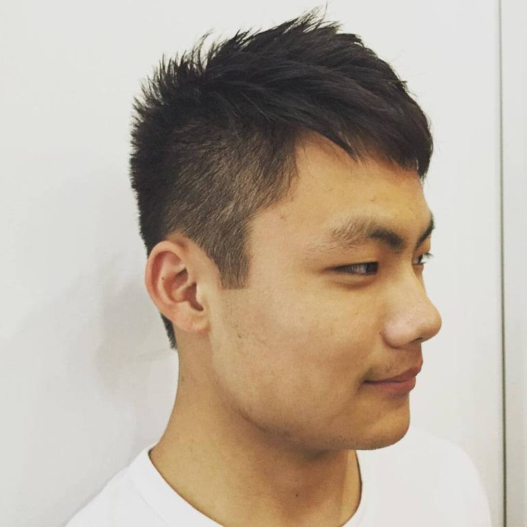 Asian Hairstyles Men Using Informal Spiky - Harpmagazine.com