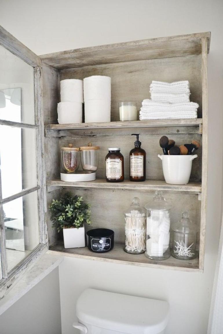 Bathroom Storage Ideas - Floating Display Cases - harpmagazine.com