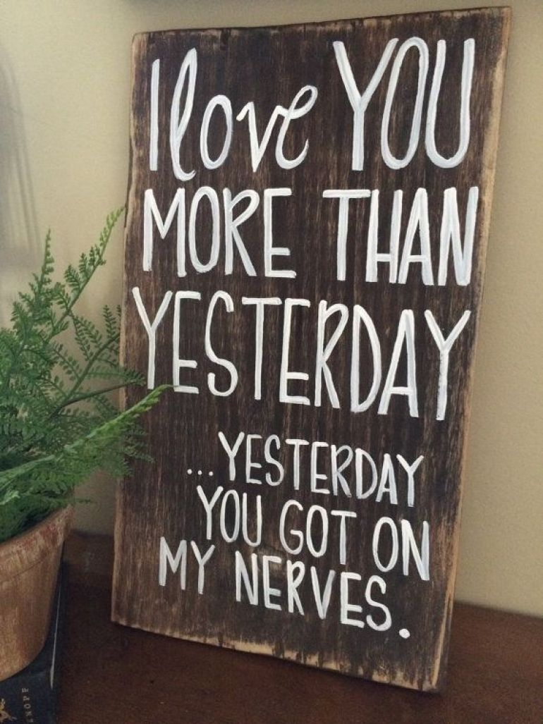 Wood Signs Ideas - Snarky Humor Wide-plank Sign - harpmagazine.com