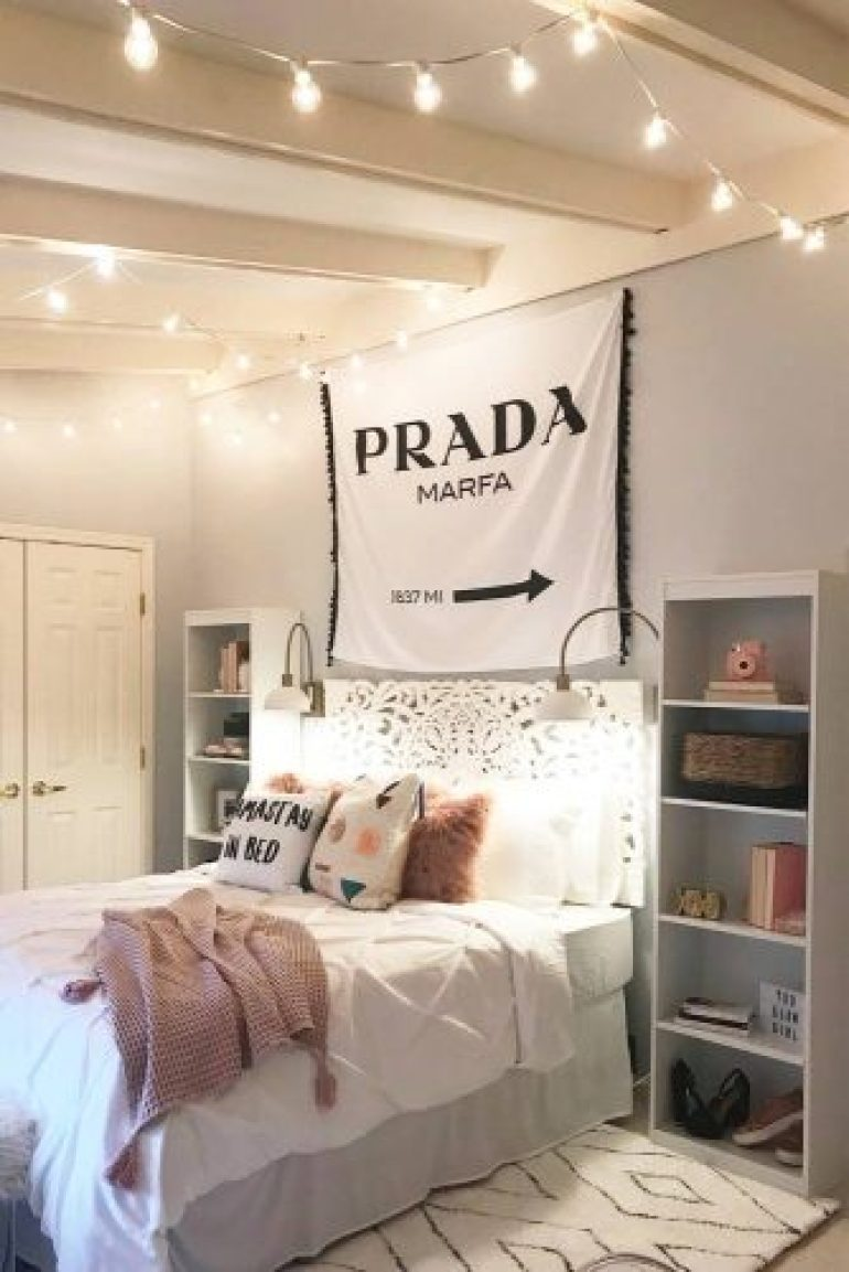 Teen Girl's Bedroom Ideas - Cozy And Simple Teen Bedroom Idea - harpmagazine.com