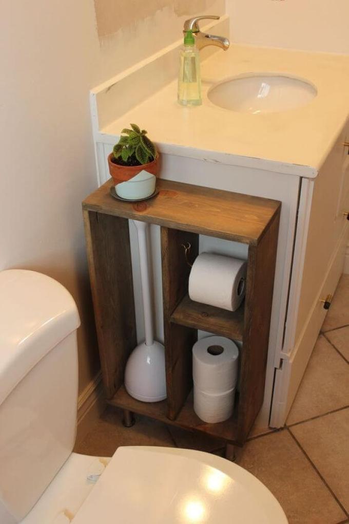 Storage Ideas for Small Spaces - Build a Freestanding Bathroom Cabinet - Harpmagazine.com