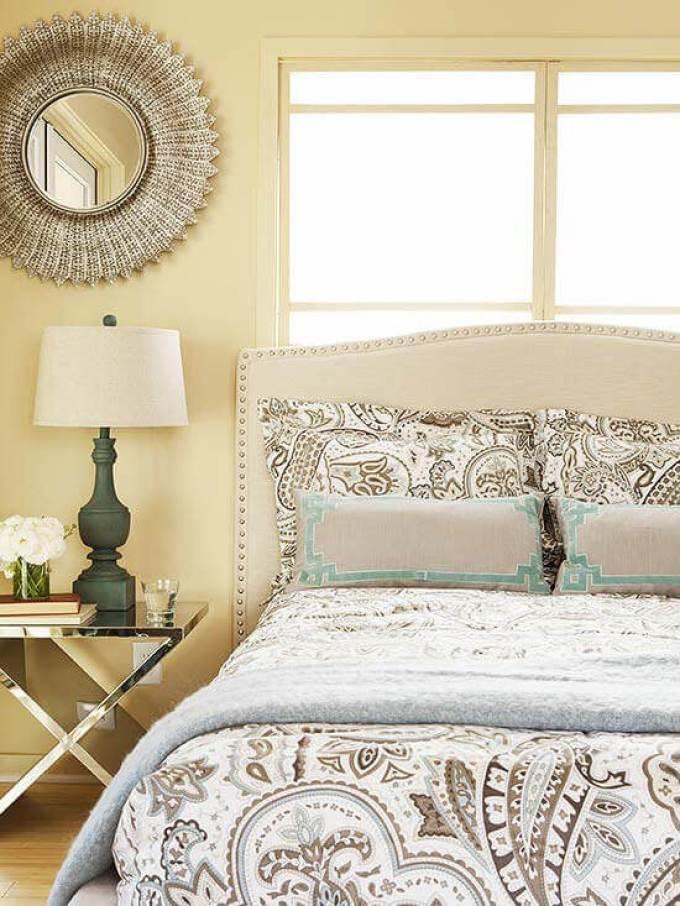 Romantic Master Bedroom Decor Ideas - Neutral Sparkle - Harpmagazine.com