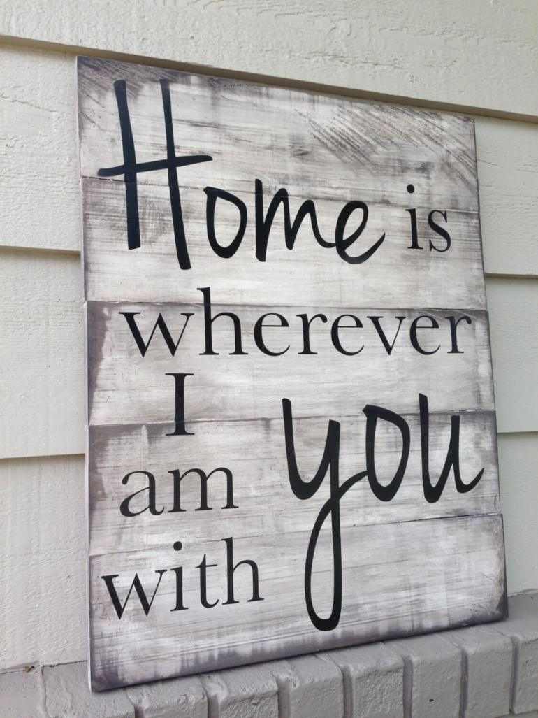 Wood Signs Ideas - Song Lyric Sign with Vinyl Decal Text - harpmagazine.com