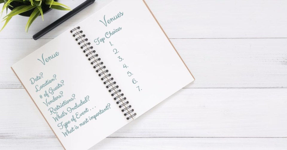 questions to aks when choosing your wedding or event venue