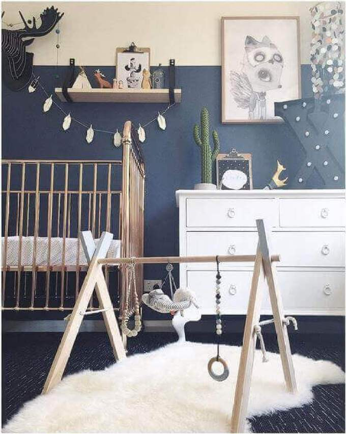 Baby Room Ideas Baby Boy Bedroom with Bold Colors and Patterns - Harppost.com