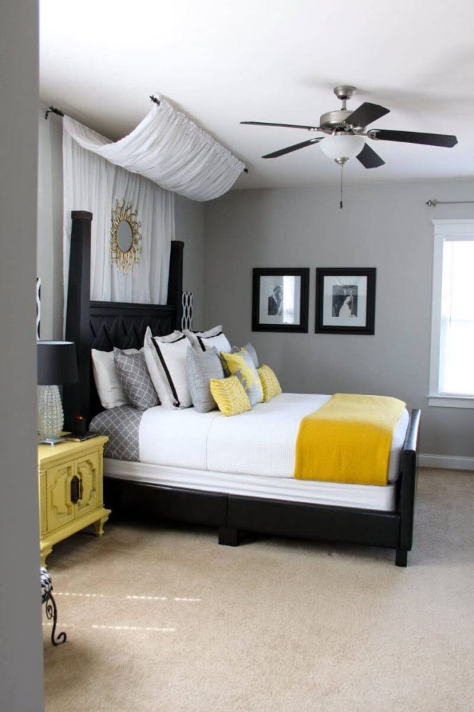 Bedroom Paint Colors Fabulous Black and Yellow - Harppost.com
