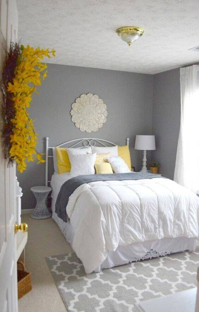 Bedroom Paint Colors Pale Grey with The Warmth of Yellow - Harppost.com
