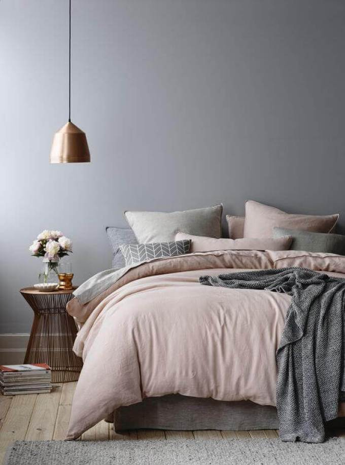 Bedroom Paint Colors The Collaboration of Grey and Copper - Harppost.com