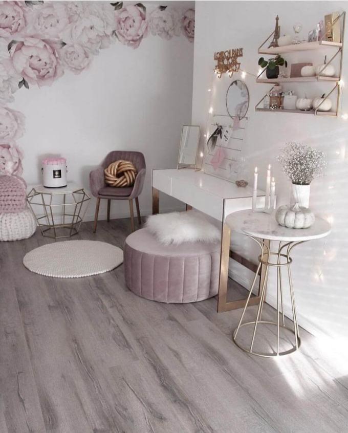 Bedroom Paint Colors The Romantic Baby Pink - Harppost.com