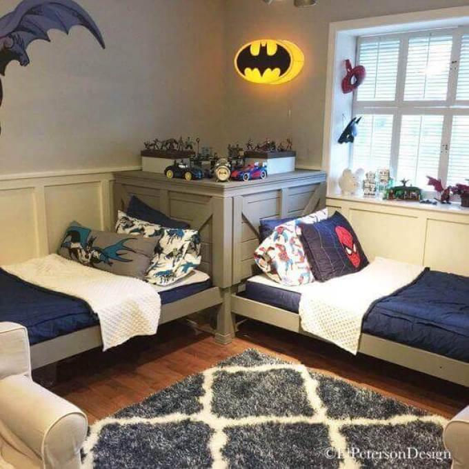 Boys Bedroom Ideas Full of Powerful Superheroes - Harppost.com
