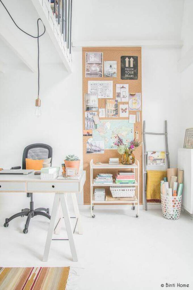 Cork Board Ideas Focal Point of an Office - Harppost.com