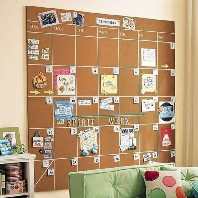 Cork Board Ideas Monthly Schedule Cork Board Idea - Harppost.com