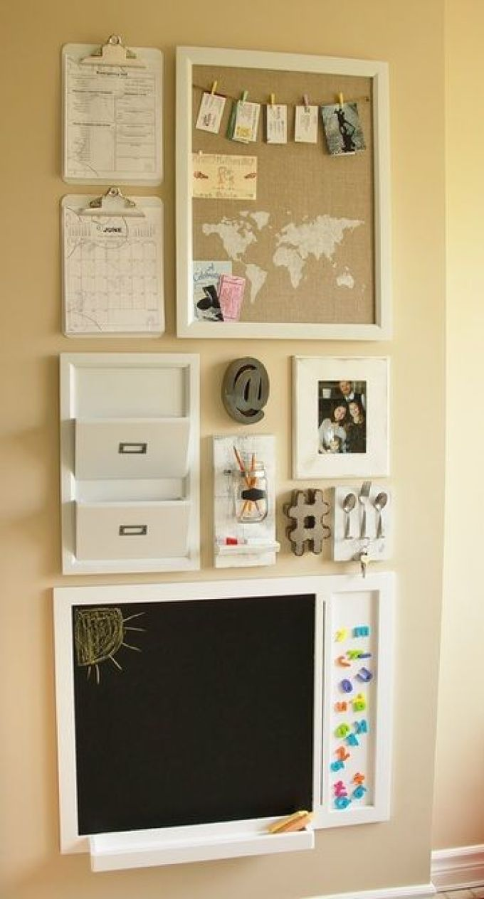 Cork Board Ideas with World Map and Picture Hanger - Harppost.com