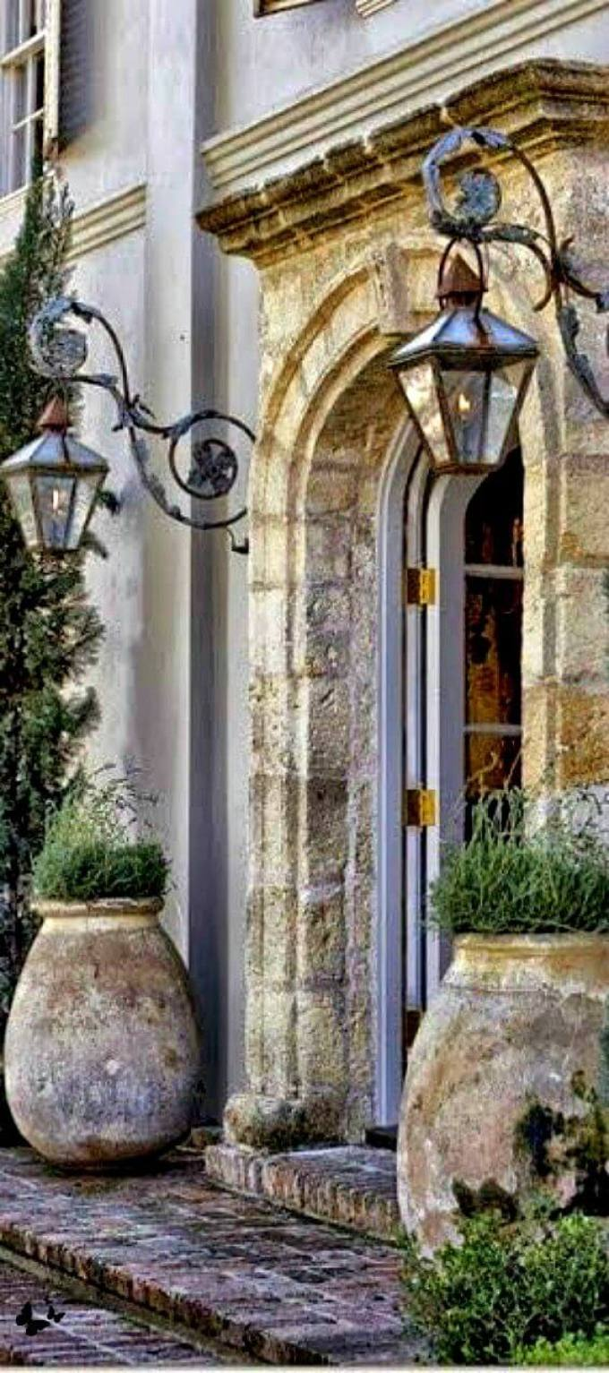 French Country Decor Classic Lanterns and Planters - Harppost.com