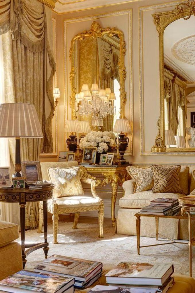 French Country Decor Lavish Living Room - Harppost.com