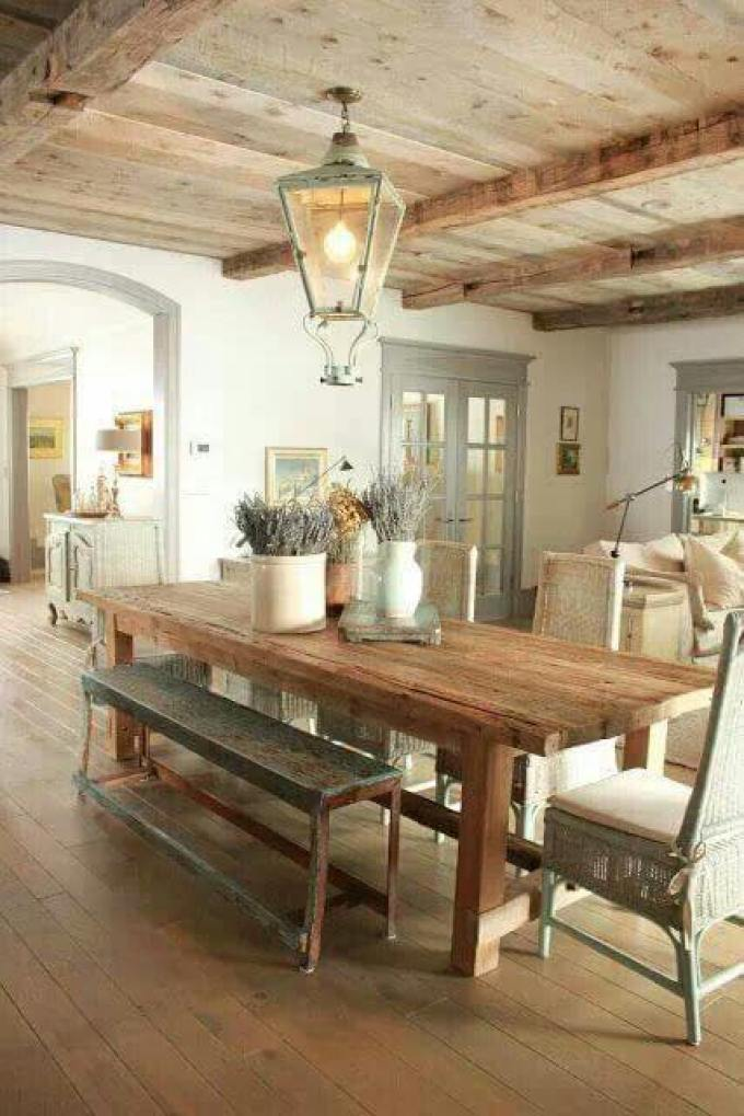 French Country Decor Simple Dining Room - Harppost.com