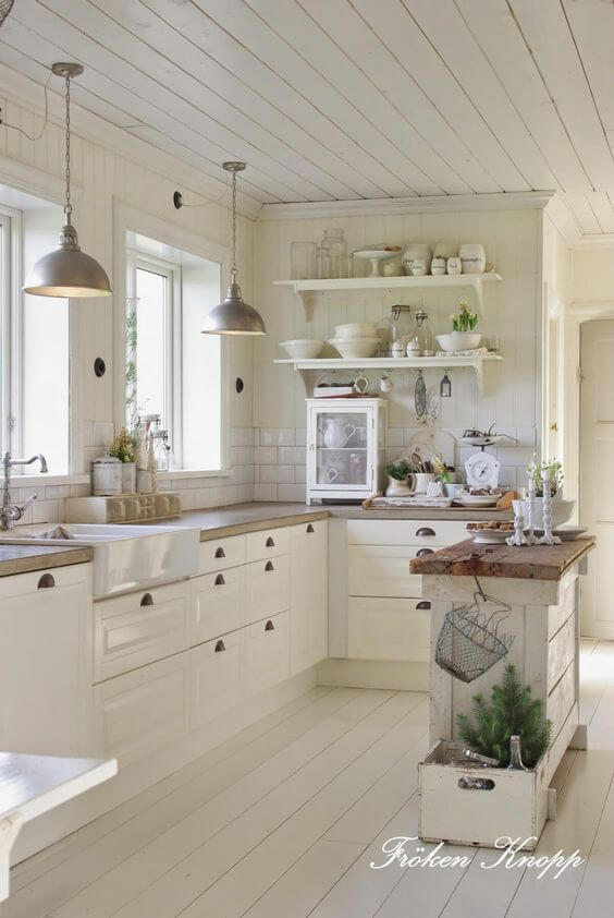 decor and design 38 best farmhouse kitchen decor and design ideas for 2018 White Kitchen Ideas. French Country Decor ...