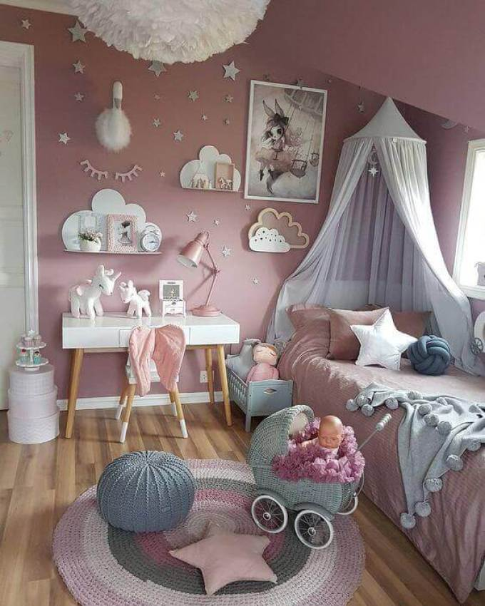Girls Bedroom Ideas with Fancy Accents - Harppost.com