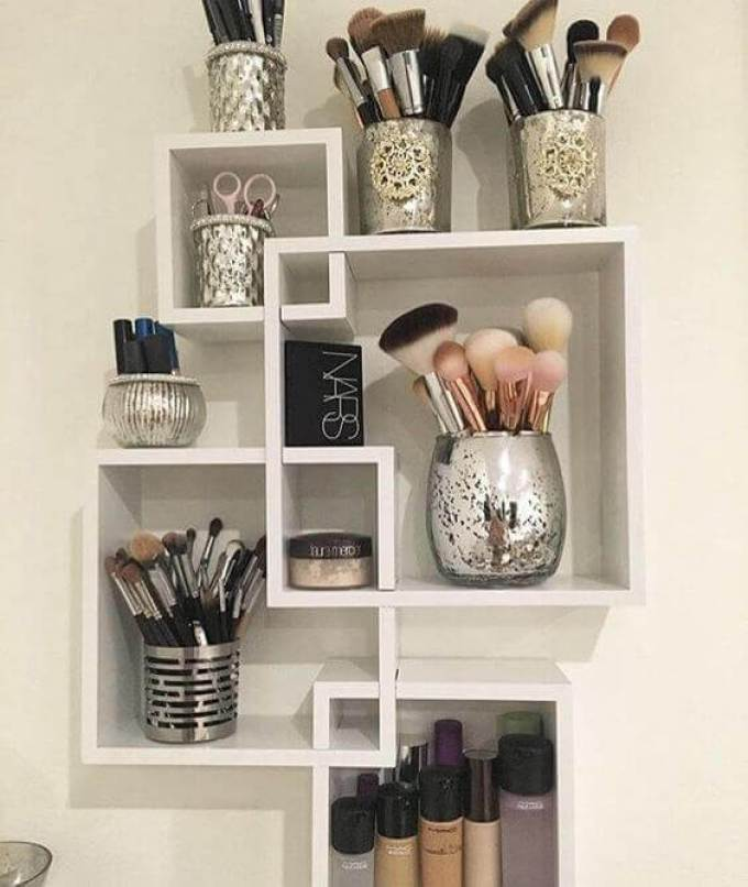 Makeup Room Ideas Cubical Shelves for Makeup Tools - Harppost.com