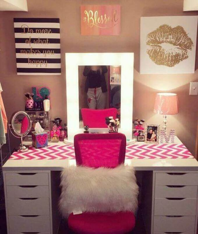 Makeup Room Ideas for Teenagers - Harppost.com