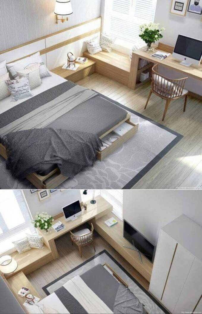 Small Bedroom Ideas with Built-Ins - Harppost.com