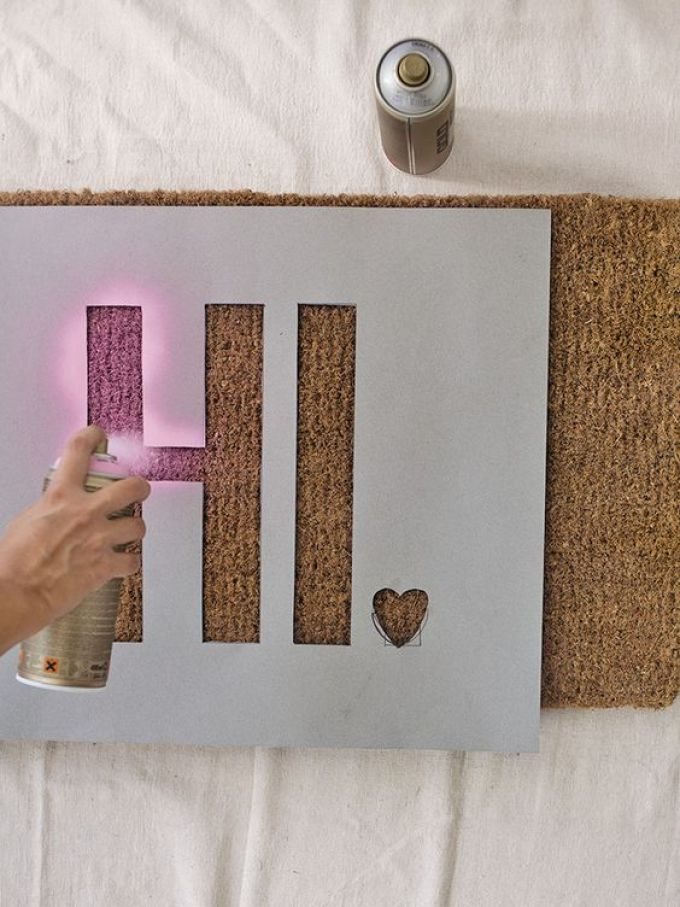 Stencil Your Cork Board Ideas - Harppost.com