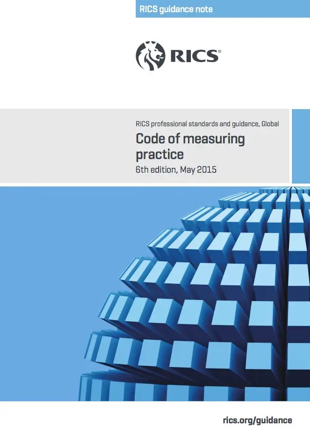 The RICS Code of Measuring Practice (6th Edition May 2015) Guidance Note front cover
