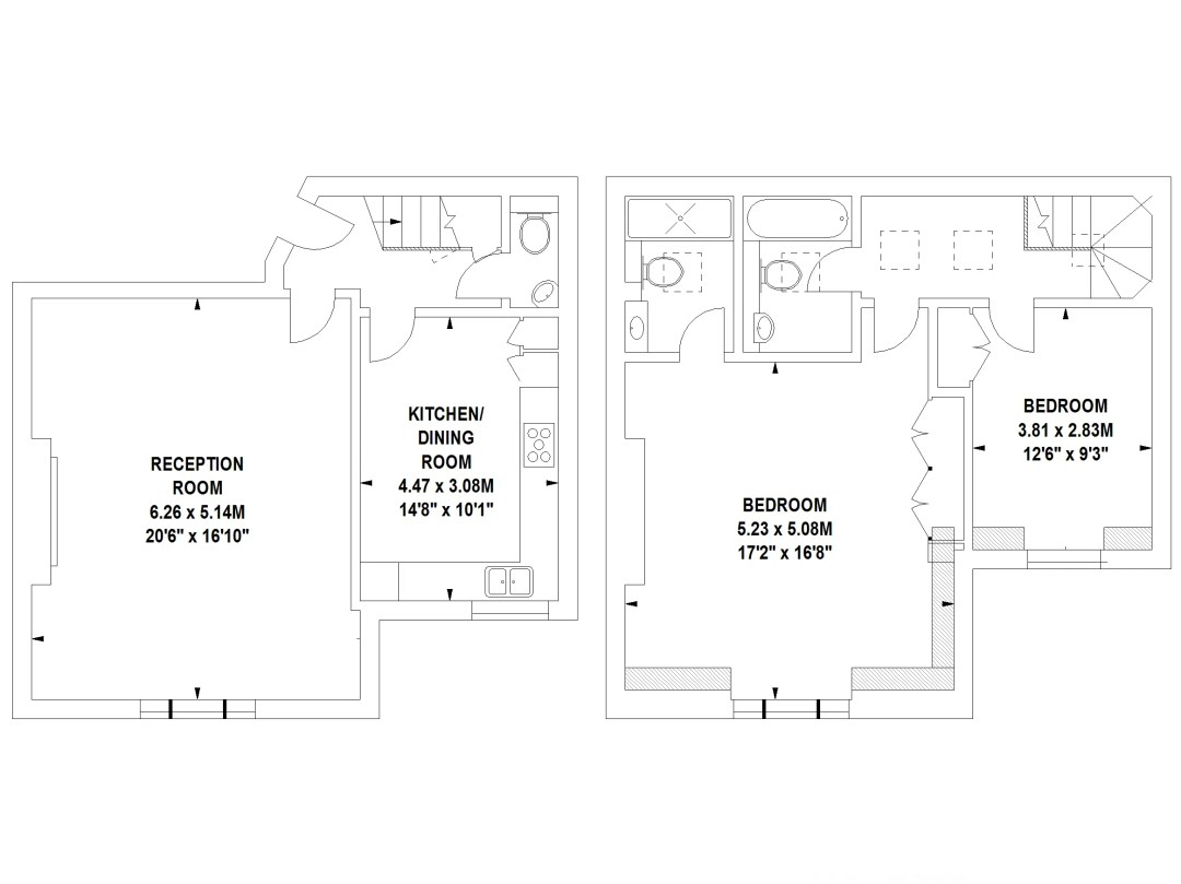 Floor Plans by Harpr Surveyors - This is an example of our hollow walled floor plans