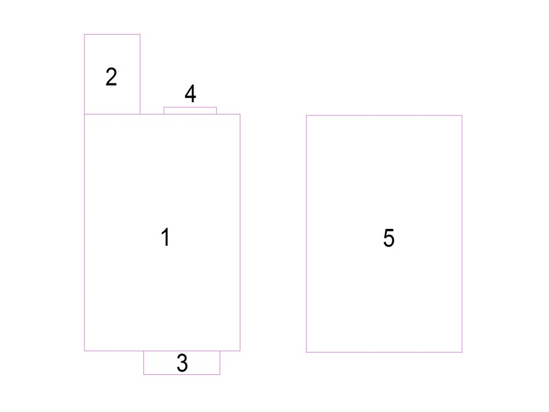 Floor plans showing the areas clearly to allow a clear calculation of area