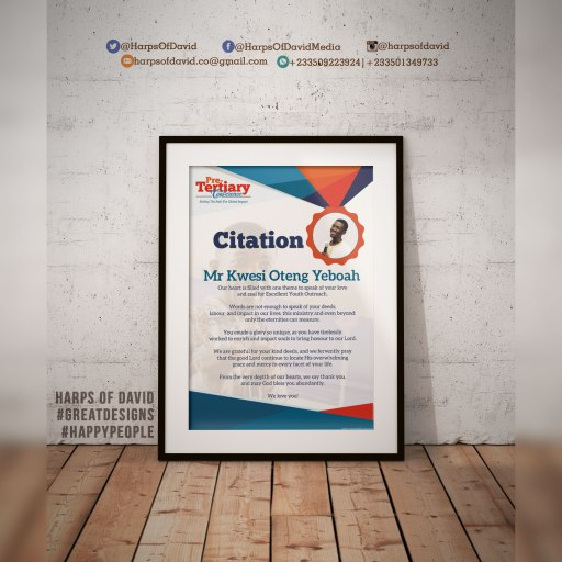 Citation design for Excellent Youth Outreach, KNUST