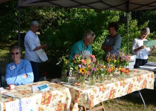 Jane, Wendy, Jackie, Anne and Marcy at the Garden Club's table