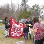 Quilt donated to Ben's family by Harpswell Garden Club member Elly Cary