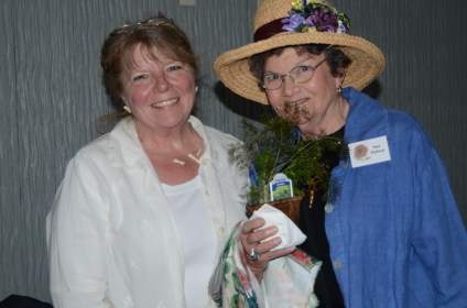 Annette Dunn decorated the hat worn by Sue Perless