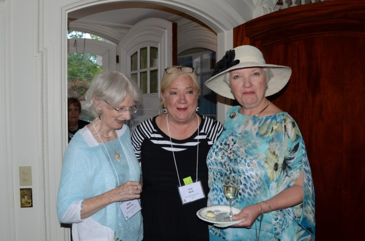 Mary Maroney and Joan Well with Suzanne Bushnell