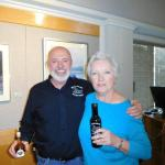 GCFM President Suzanne Bushnell with our guest speaker, Pat O'Brien, Marketing Director of Fiore Olive Oils.