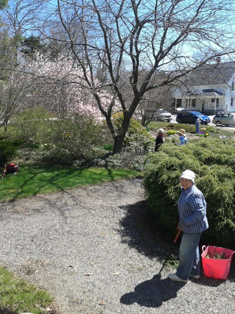 Clean Up Day, May 2017 at Harpswell Historic Park Gardens