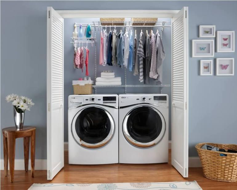 Ikeas Small Laundry Room Ideas - Put Your Laundry Machines in A Closet - Harptimes.com