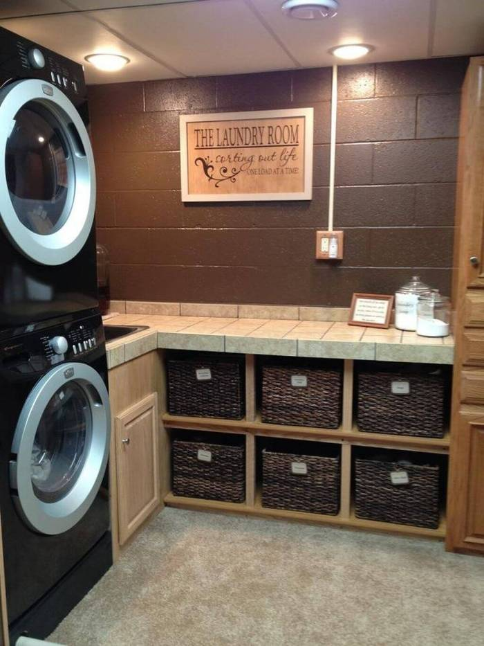 DIY Basement Laundry Room Idea - Harptimes.com